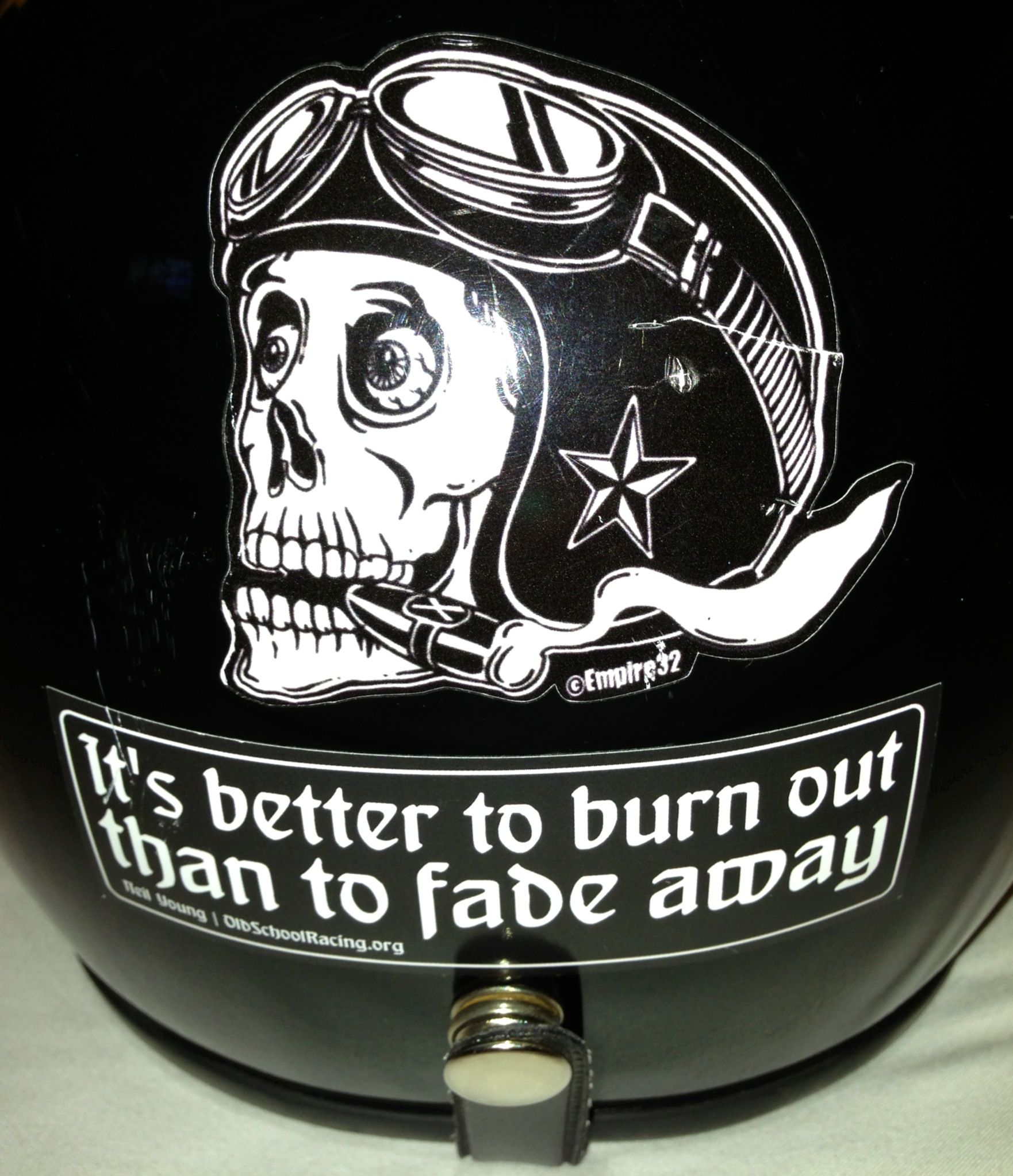 My best sticker motorcycle helmet burnout