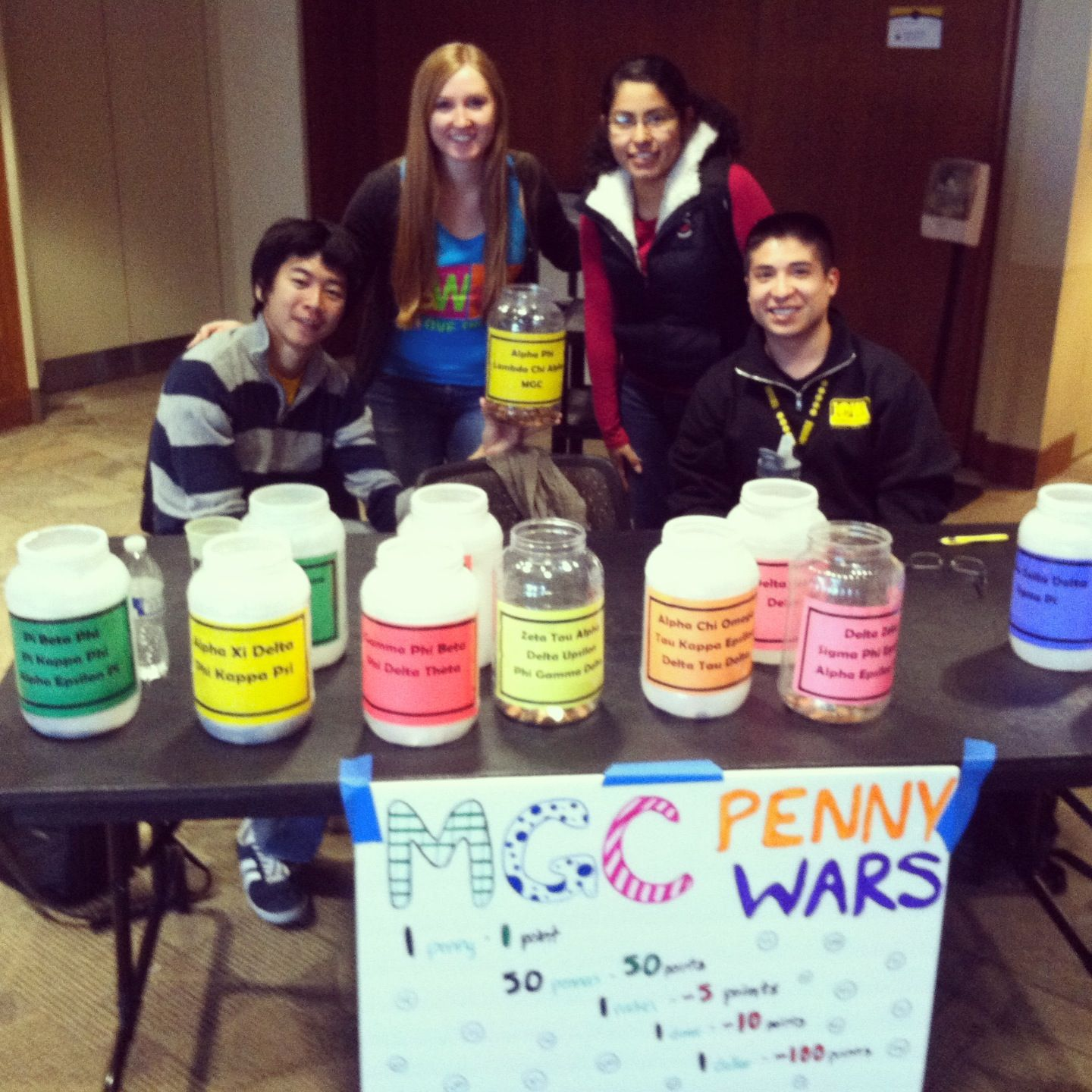 fundraising idea: penny wars fundraiser. every fraternity and