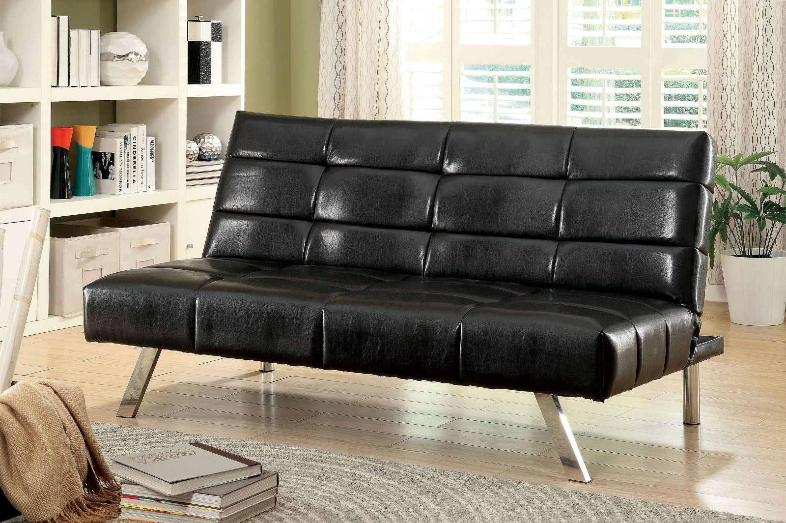 The New Furniture Of America Peck Sofa Futon Provides A Comfortable Seat And Beautiful Style Learn More Save Right Here At Las Vegas Online
