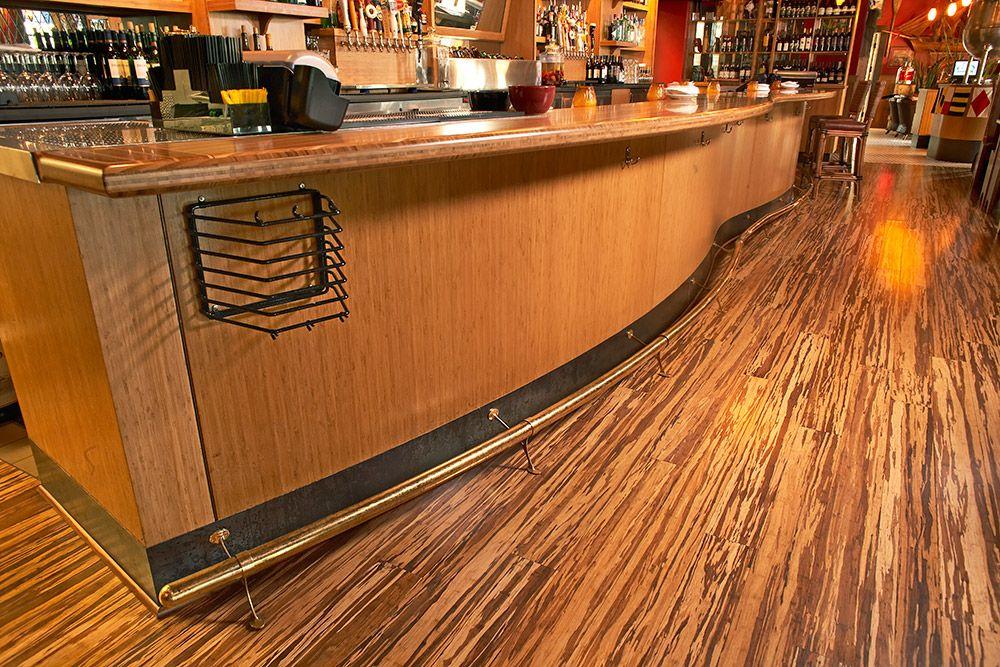 Beautiful grain hardwood bamboo flooring against this