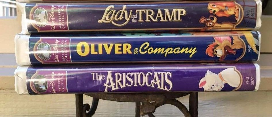 3 Walt Disney Vhs Masterpiece Aristocats Lady And The Tramp Oliver And Company Oliver And Company Aristocats Lady And The Tramp