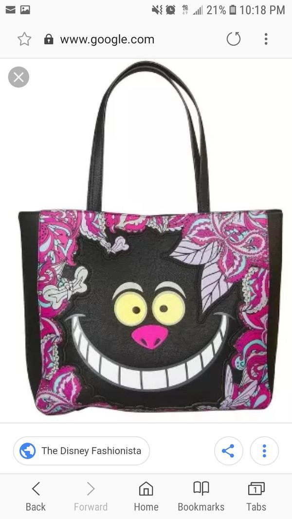 Loungefly Floral Cheshire Cat Tote for Sale in Las Vegas