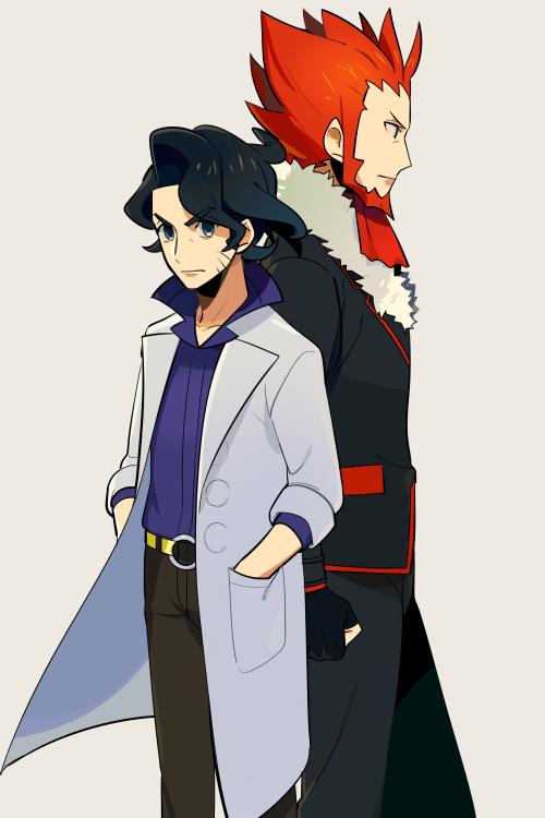 professor sycamore and lysandre pokemon pinterest