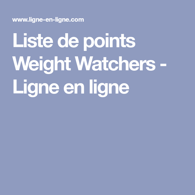 This international company uses a point system to help dieters reach a target weight or body mass index. Épinglé sur regime