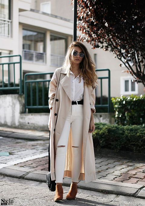 444bc4f593 long trench coat - Style Gallery & Lookbook of SheIn www ...
