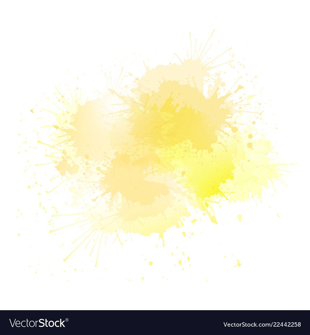 Yellow Watercolor Splashes With Highlights The Object Is Separate From The Background Vector Element For B Watercolor Splash Watercolor Splash Png Watercolor