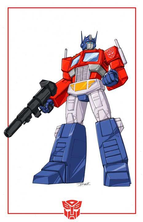Transformers Generation 1 Cartoon Characters : Optimus prime cartoon look by dan the artguy viantart
