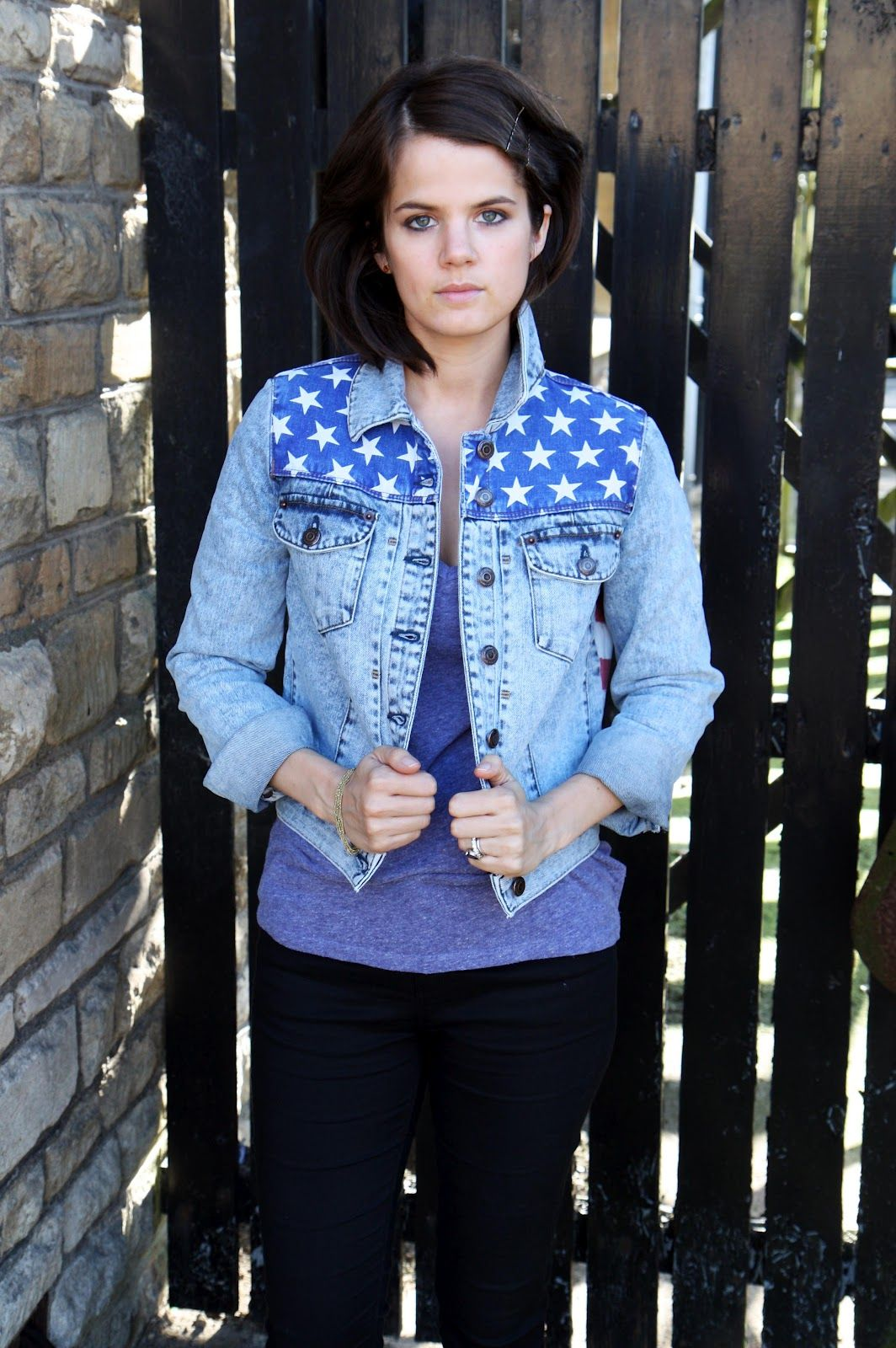 The jean jacket.
