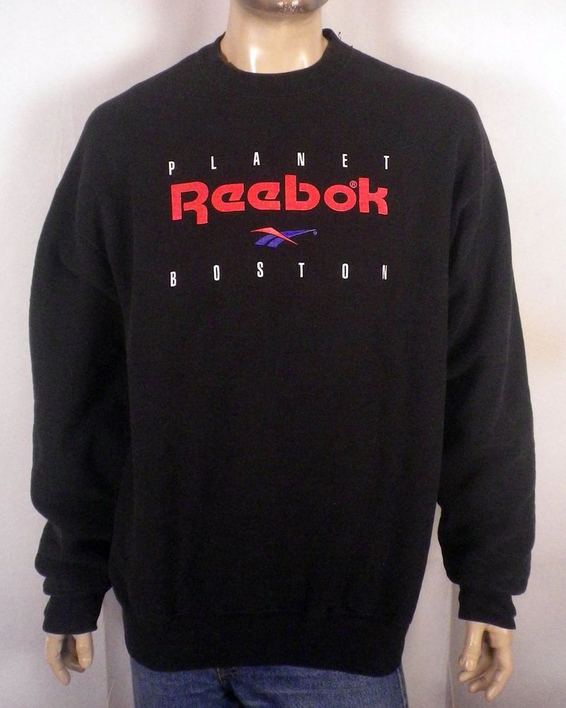 69febfd0d vtg 80s 90s dope big logo Planet Reebok Boston Sweatshirt athletics hip hop  XXL