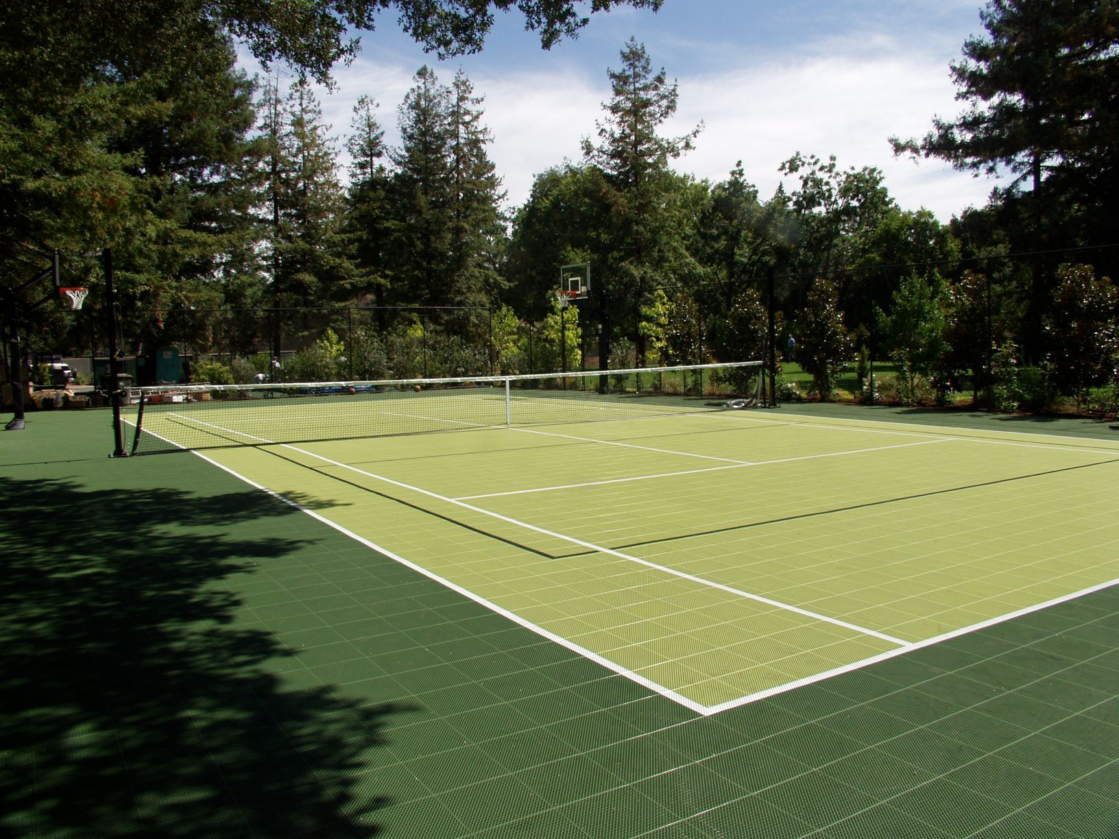 Backyard Sport Court Multi Purpose Tennis Court In Atherton Ca Tennis Court Backyard Tennis Court Sport Court