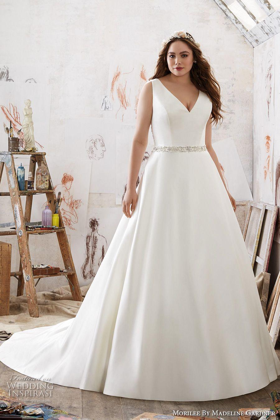 Morilee By Madeline Gardner Spring 2017 Wedding Dresses Julietta Plus Size Bridal Collection Wedding Inspirasi Wedding Dresses Taffeta Wedding Dresses Satin Wedding Dress Styles [ jpg ]