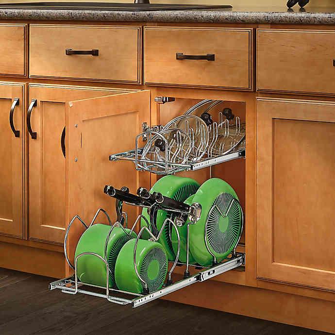Rev A Shelf 2 Tier Cookware Organizer In 2020 Cookware