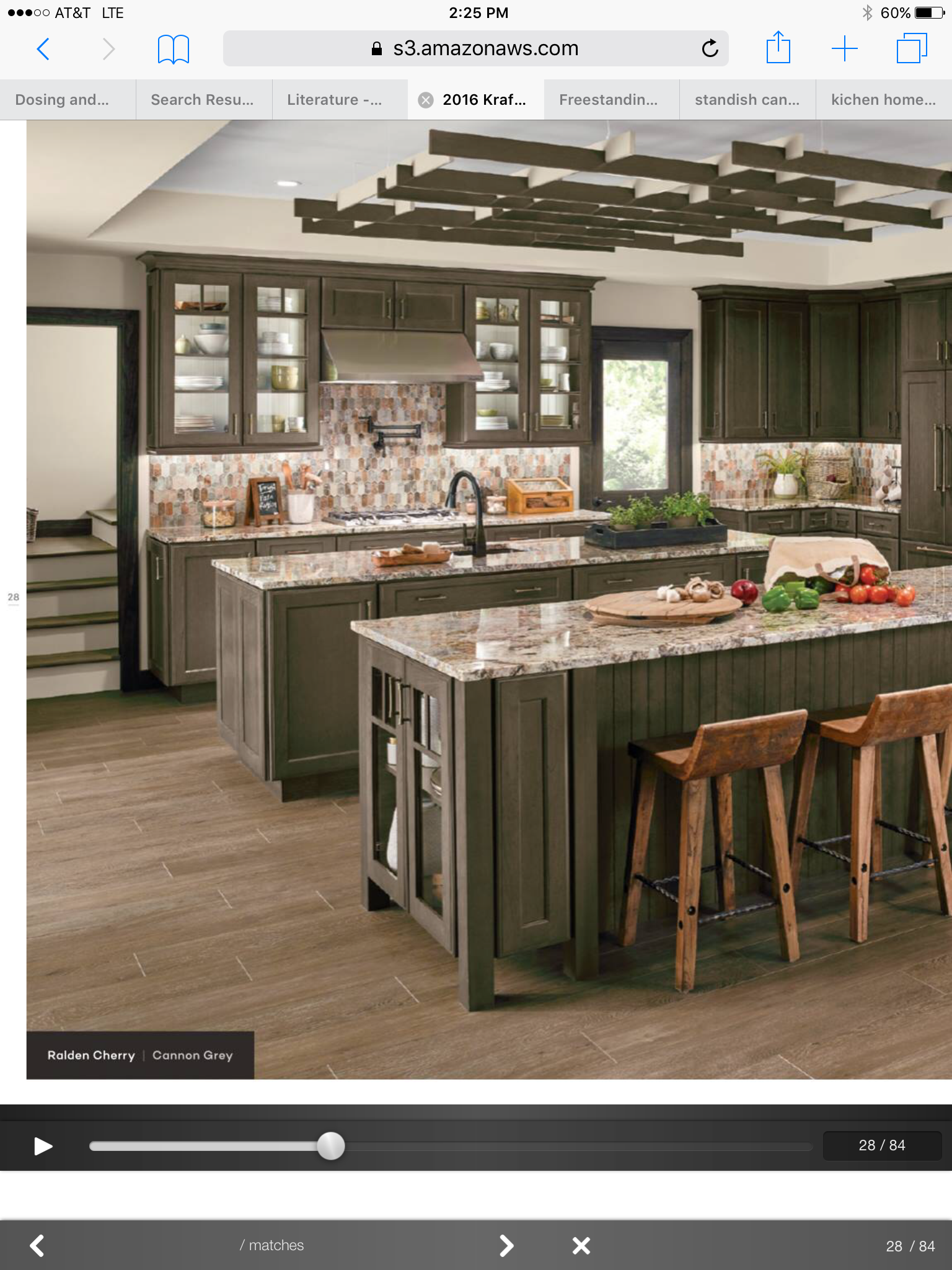 Best Cannon Grey Cherry Cabinets Kraftmaid Kitchens 400 x 300