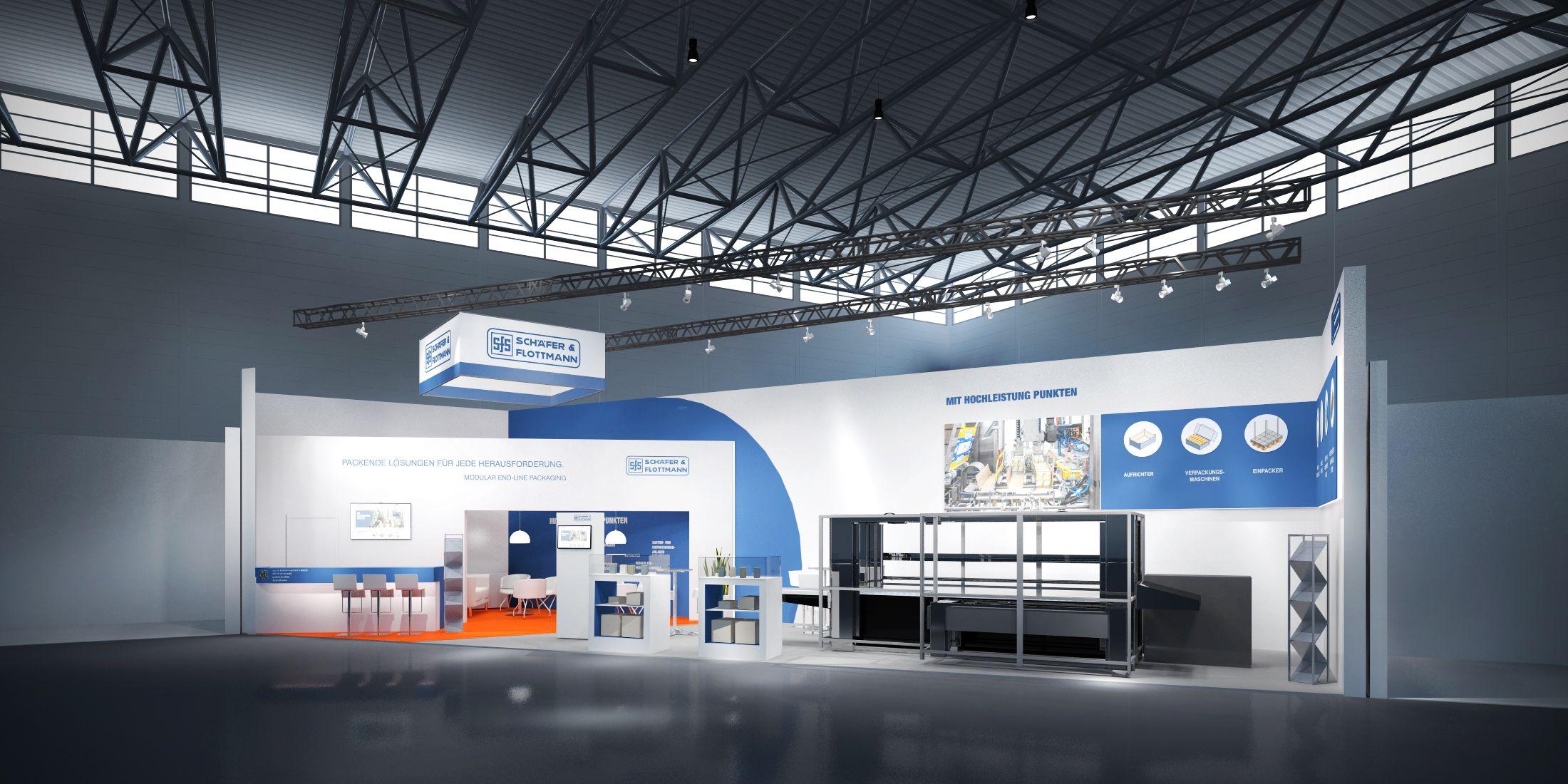 Schäfer + Flottmann GmbH & Co. KG Konzeptentwurf zur Fachpack, Nürnberg 92m²