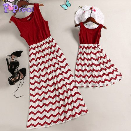 a20251307 Buy Mom Girl Stripes Matching Skater Dress online with cheap prices and  discover fashion Mommy & Me at Popreal.com.