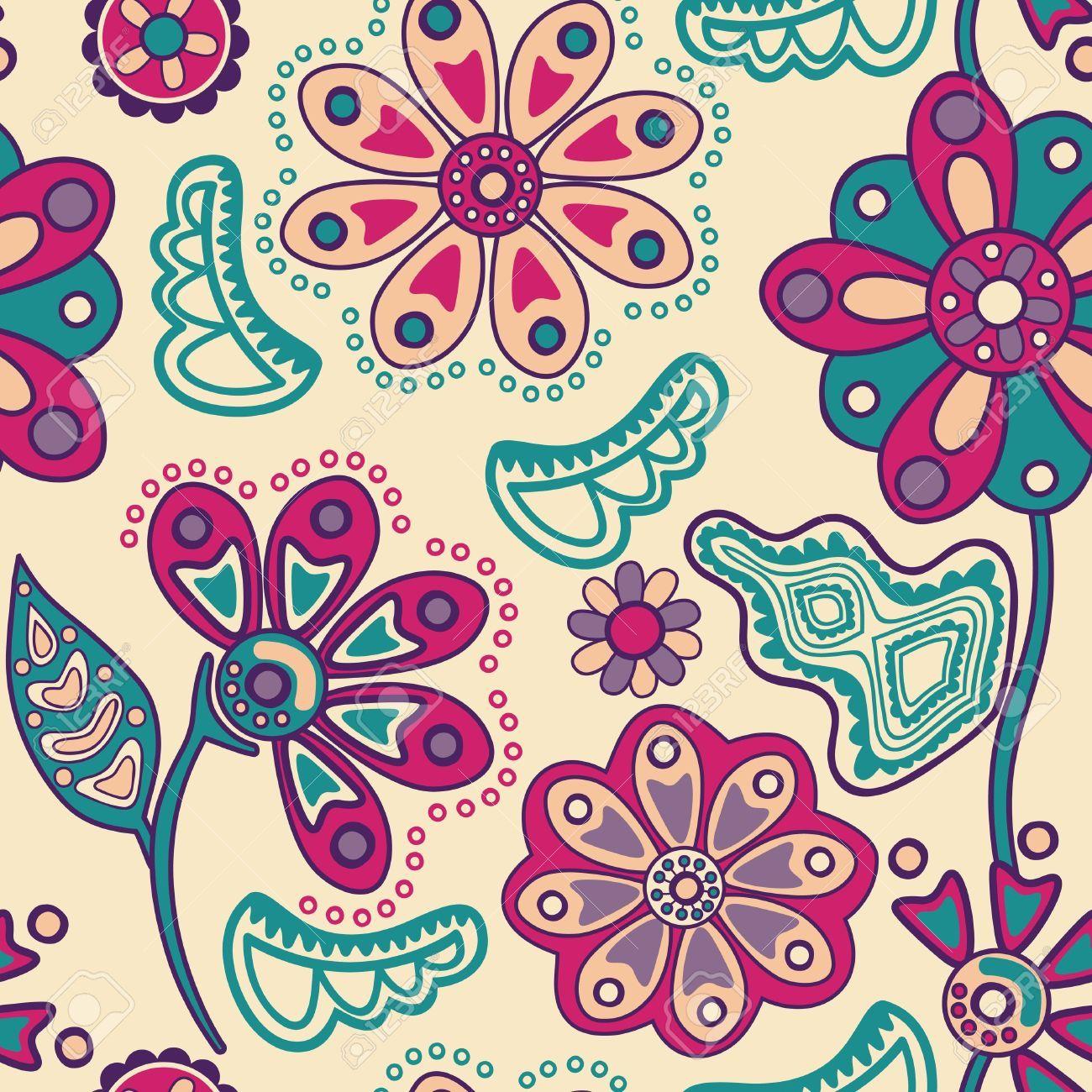 Arcoiris De Flores Abstracto - Buscar Con Google