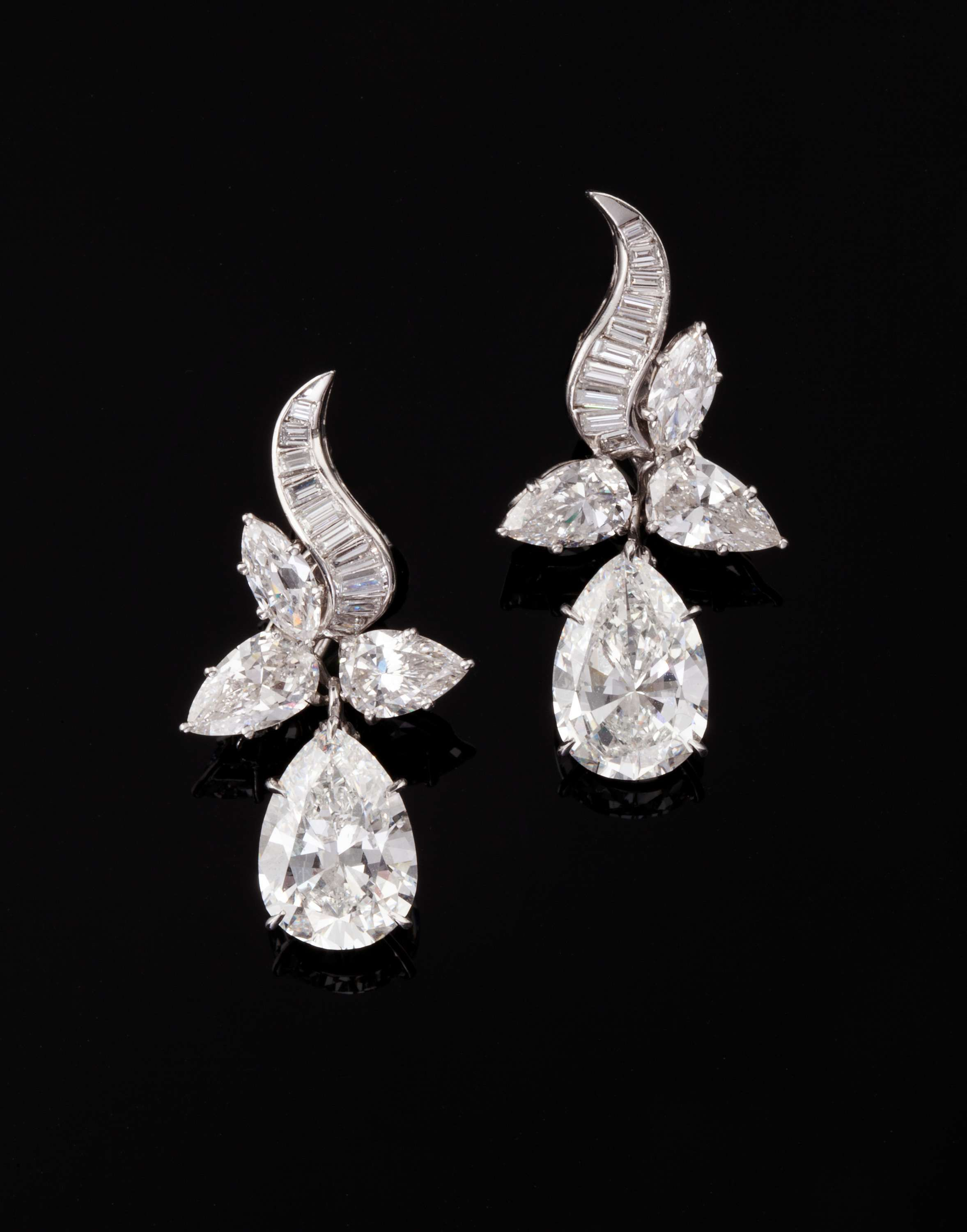 earrings emerald loading cabochon and multi large pear giovane shaped diamond chandelier white