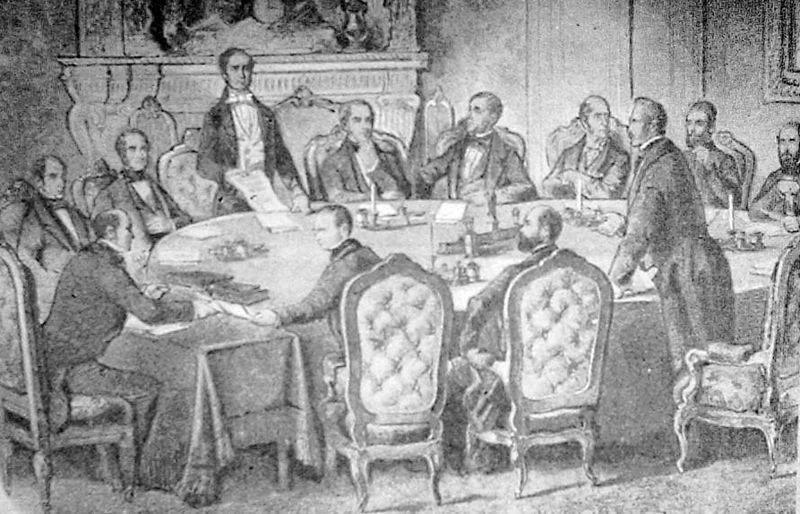 The Signing Of The Treaty Of Paris 1783 The Official Political