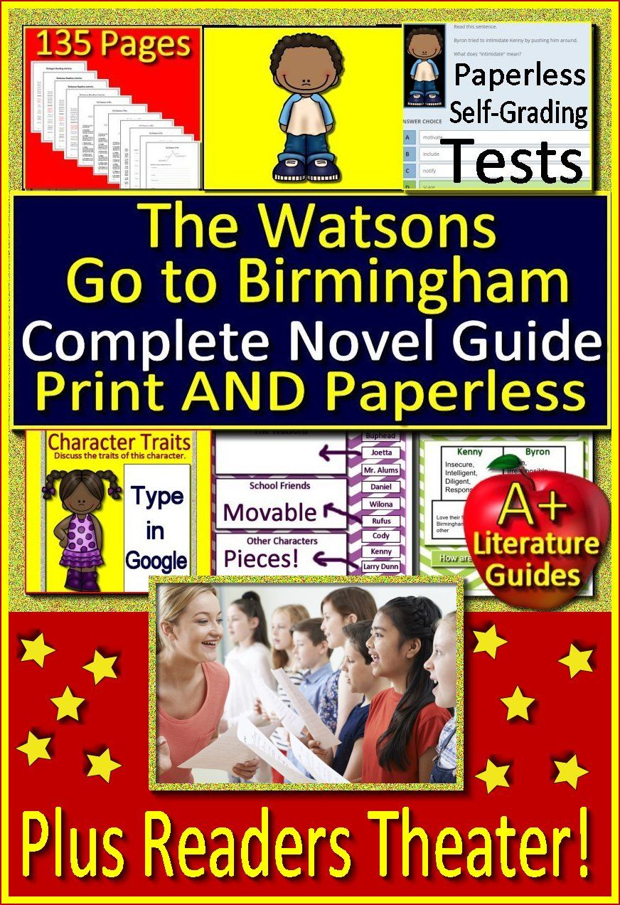 The Watsons Go To Birmingham 1963 Novel Study Google Classroom