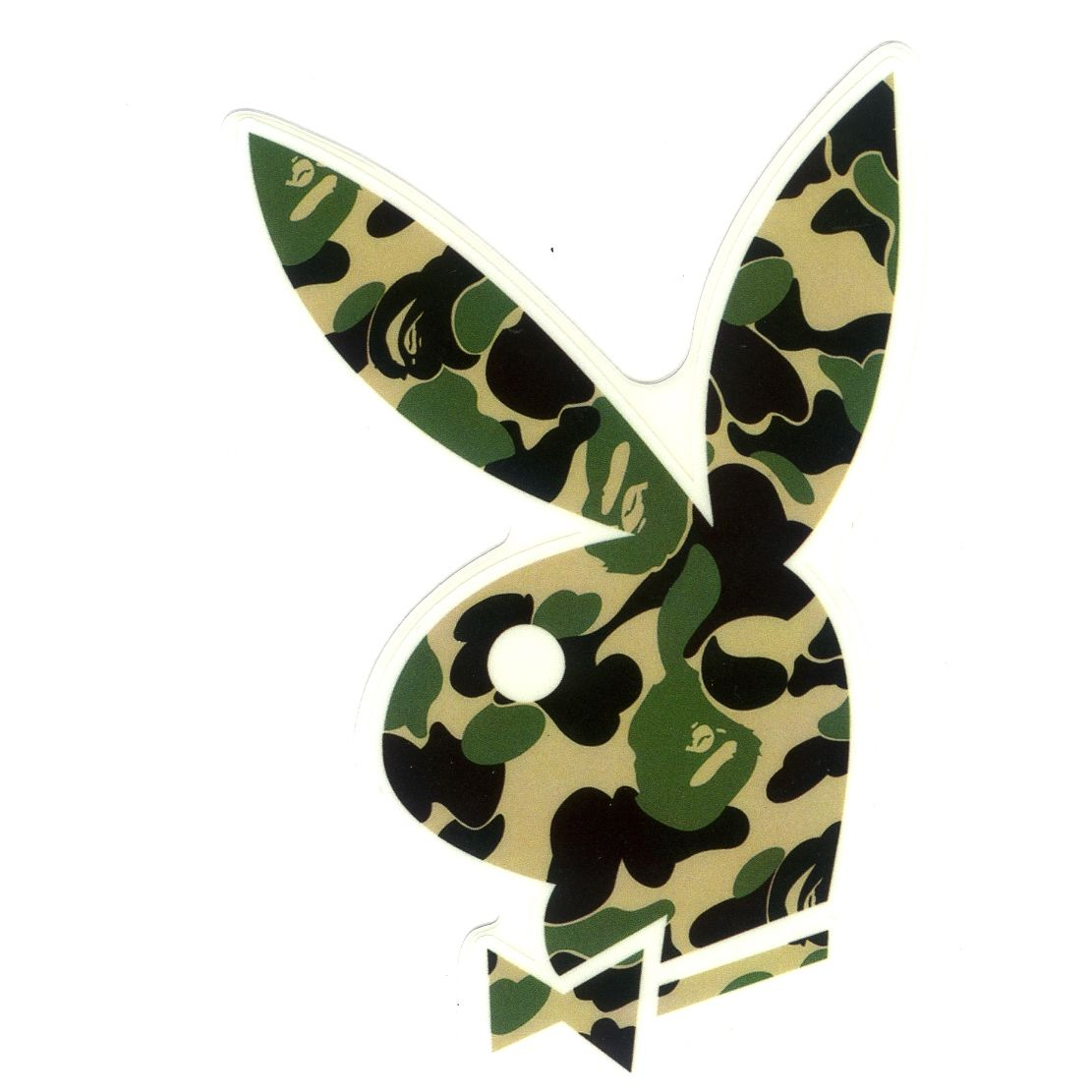 1249 playboy x a bathing ape camo height 8 cm decal sticker decalstar com