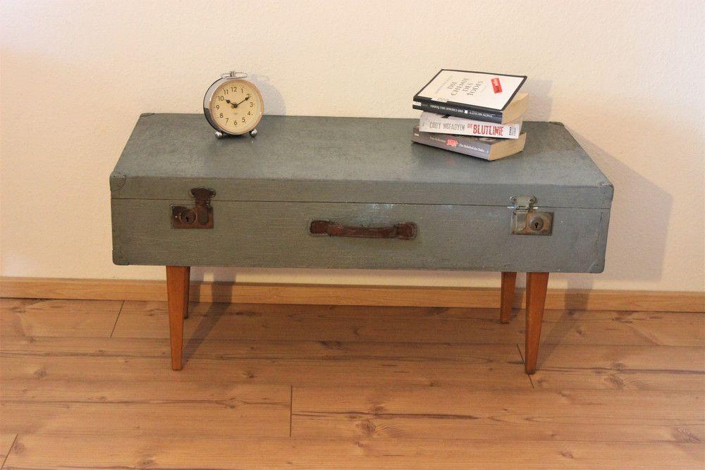 Vintage Tische Couchtisch Sideboard Vintage Koffer Ein