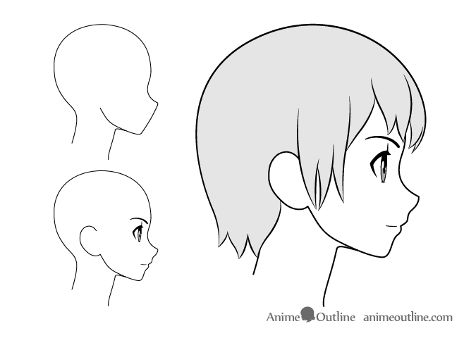 100 Satisfaction Lessons How To Draw Anime Side View Anime Side View Face In 2020 Anime Drawings Anime Side View Side View Drawing