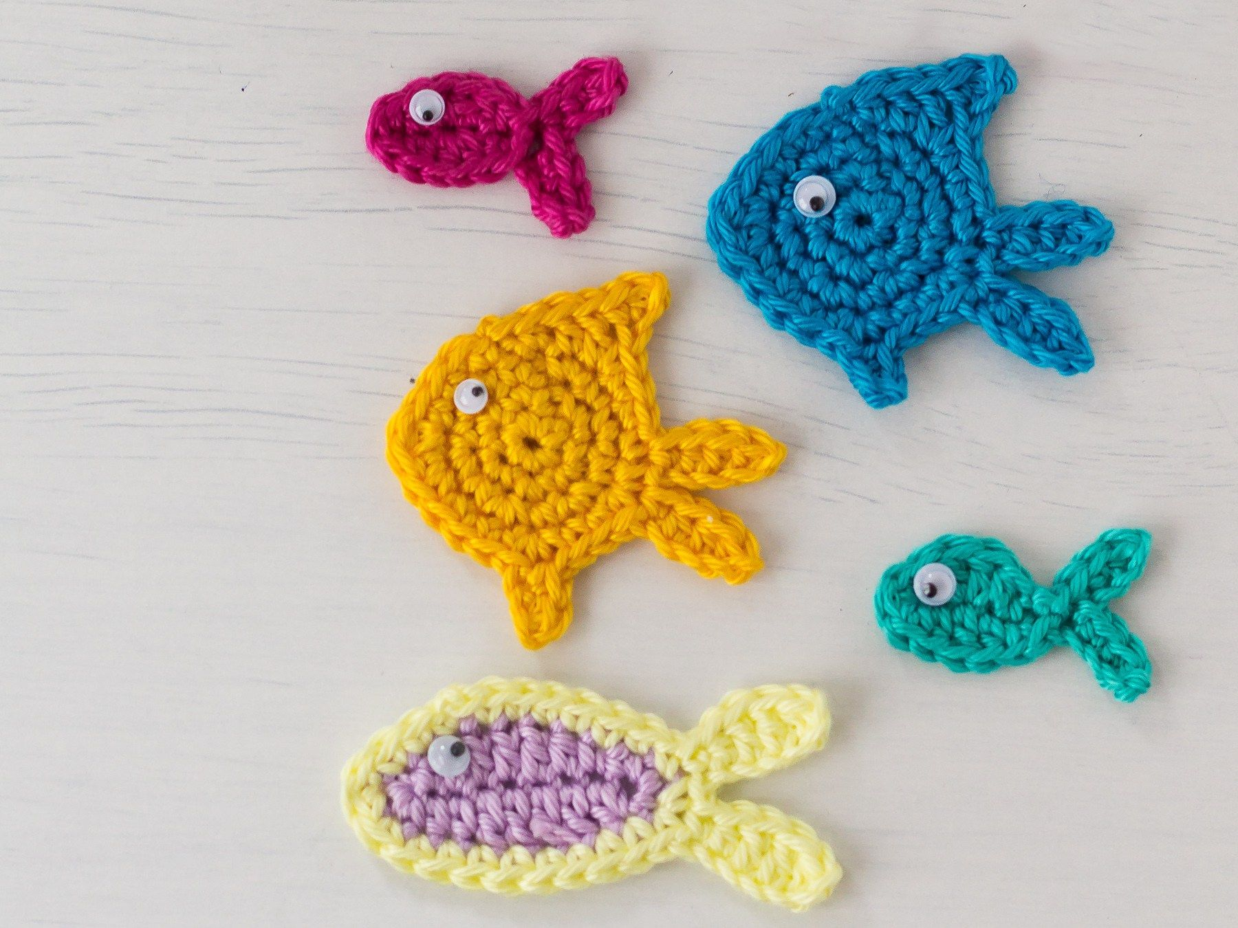 Drei verschiedene Fisch Applikationen - Three different fish ...