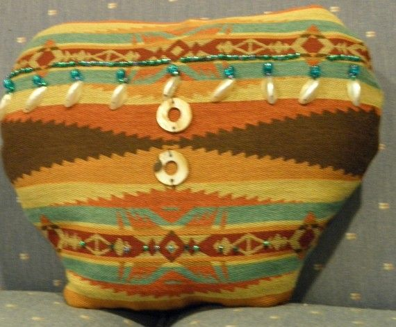 Southwestern Pillow Art in the shape of pottery by ConnieJoe, $23.00