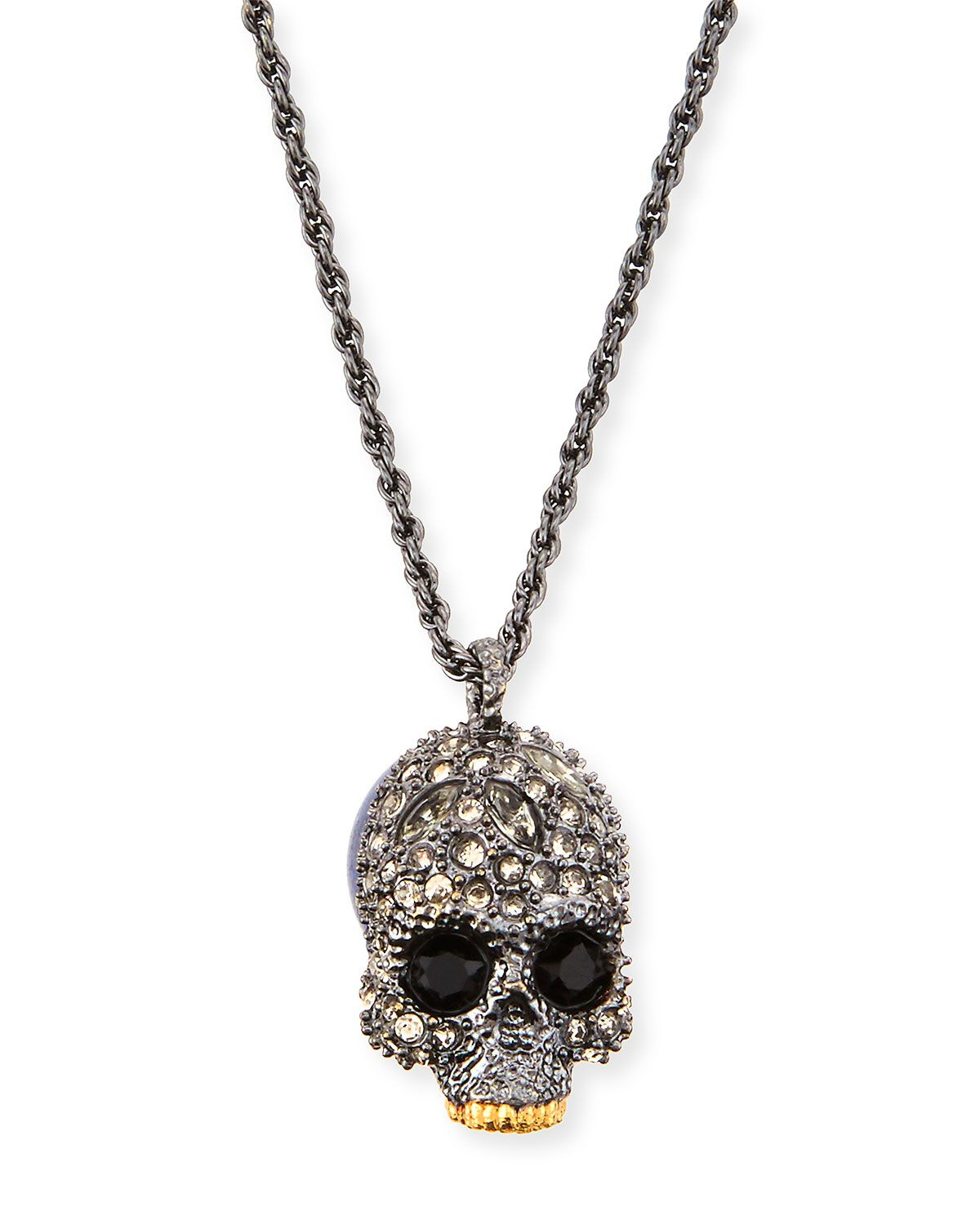 Elements crystal skull pendant necklace silver alexis bittar alexis bittar elements crystal skull pendant necklace aloadofball Choice Image