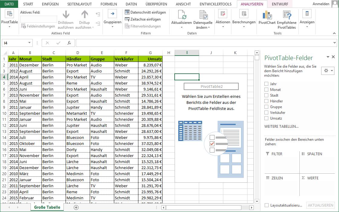 Umgang Mit Excel Pivot Tabelle Einfach Erklart Wenn Sie Mit Grossen Datenmengen Arbeiten Kann Der Pivot Tabelle Sie Einfach U Tabelle Excel Tipps Seitenlayout