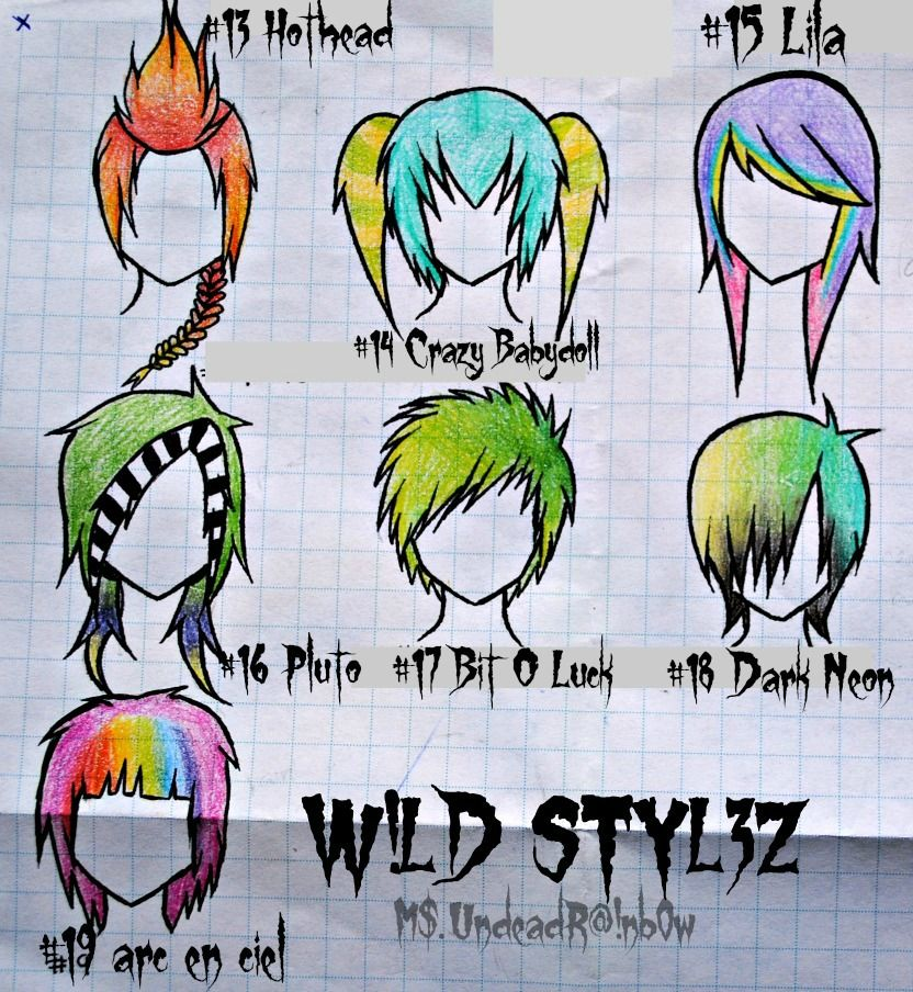 Anime Hairstyles On Real People: Wild Styles Part 2 By Rainb0w-Rand0m.deviantart.com On