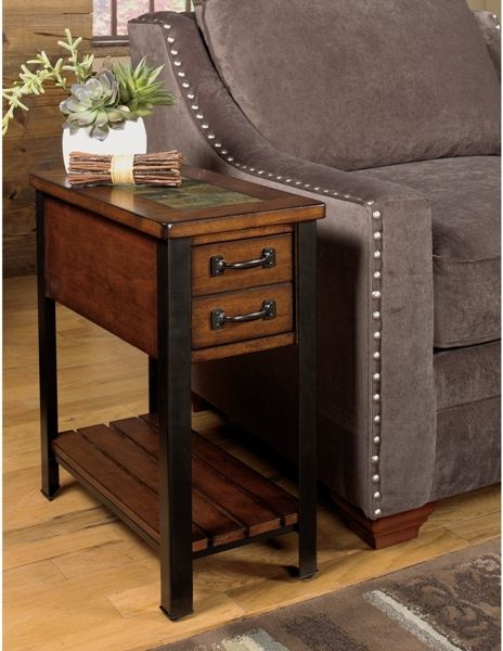 3013 07 Chairside End Null Furniture End Tables With Drawers End Tables With Storage Rustic End Tables