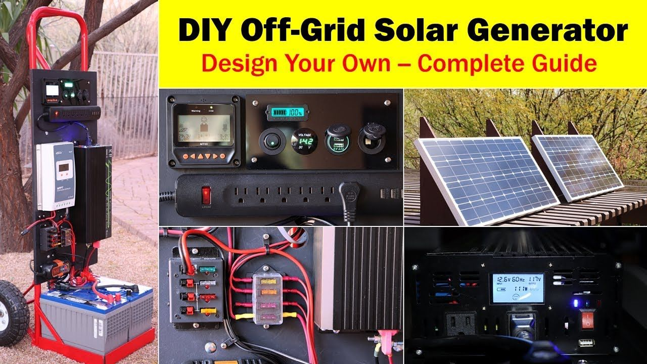 High-Capacity Off-Grid Solar Generator (rev 4) -- Wiring Diagram