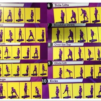 planet fitness  handy reference for step routine in the