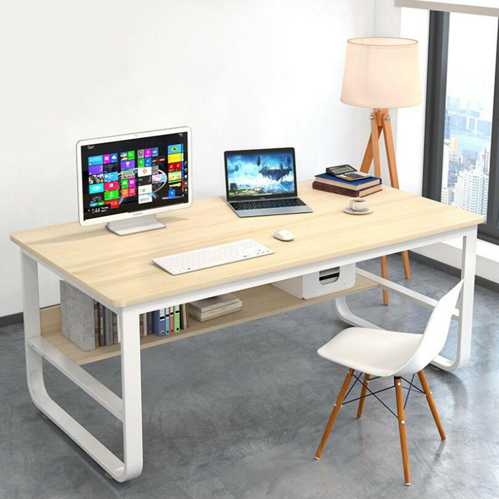 Computer Desk Laptop Pc Bookshelf Table Workstation Office Home