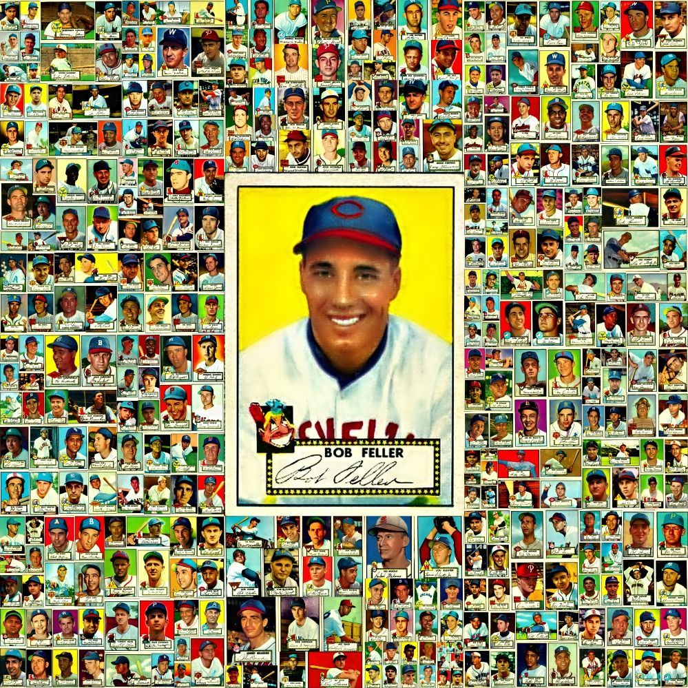 1952 Topps Baseball Cards 376 Card Collage Sports Picture