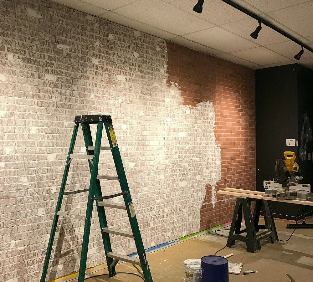 Create Faux Brick Wall Using