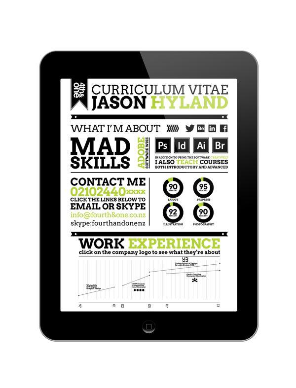 Digital Publishing Cv By Jason Hyland Via Behance Digital Publishing Work Experience Job Hunting