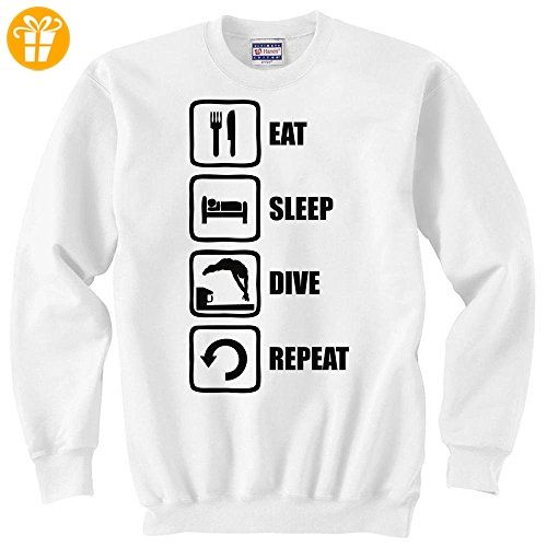 Eat Sleep Dive Repeat Funny Black Graphic Unisex Sweater XX-Large (*Partner-Link)