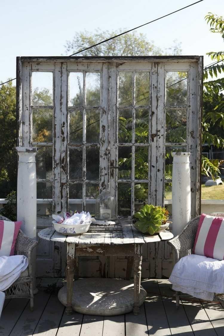 11 idées déco jardin – réutiliser les vieilles portes et fenêtres