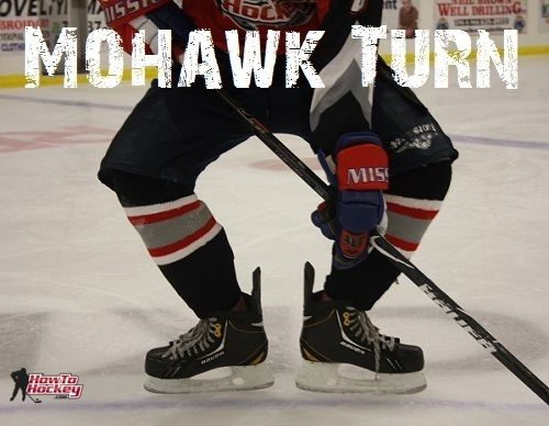 The Mohawk Turn Some People Call It The Eagle Turn Is A Fairly Simple Skating Maneuver To Perfect If You Are Already Hockey Drills Hockey Kids Inline Hockey