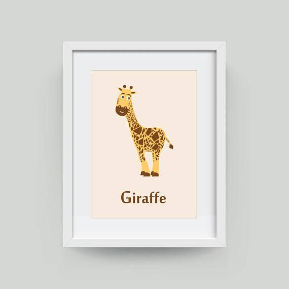 Safari Animal Wall Decoration Giraffe Print Wall Art ...