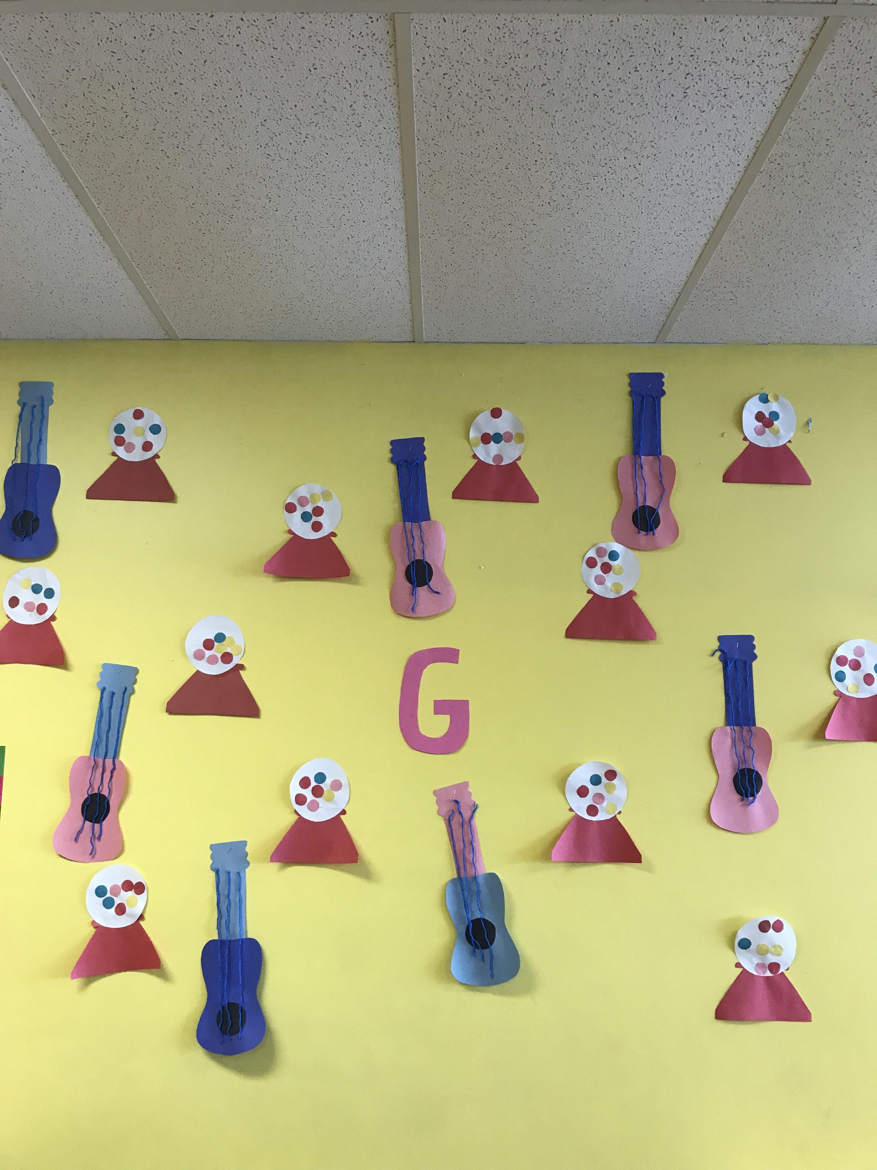 Letter G Crafts Guitars Gum Ball Machine