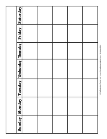 Blank Calendar Lesson Plans  The Mailbox  Sprout