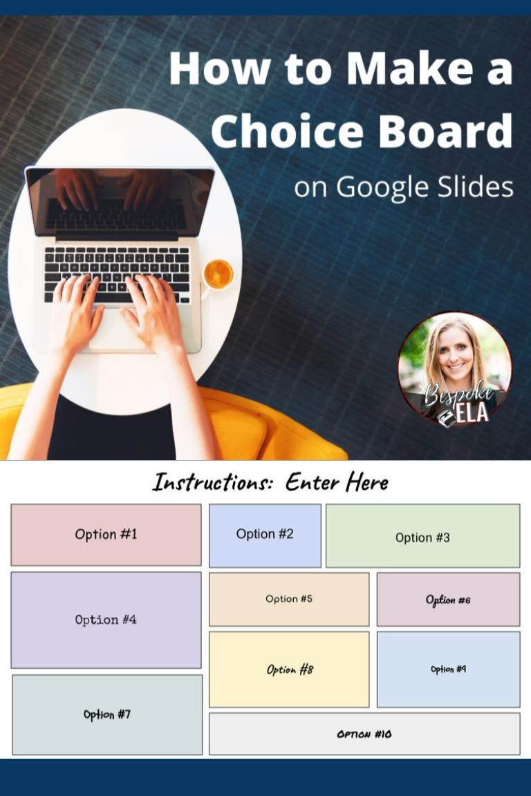 How to Make a Choice Board on Google Slides — Bespoke ELA