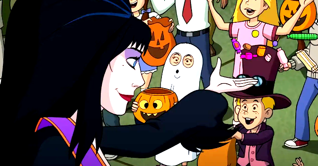 Mystery, Inc. meets Elvira in the trailer for Happy