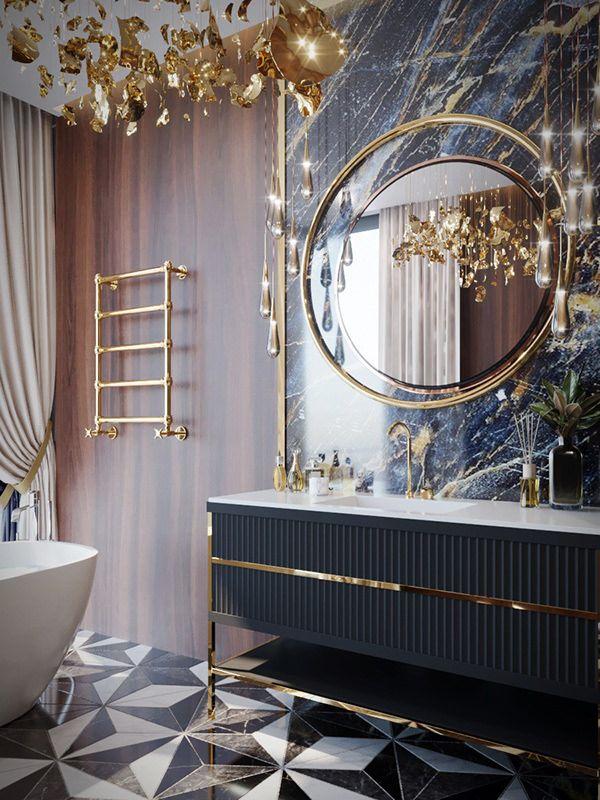 Luxury Bathroom design by VITTAGROUP