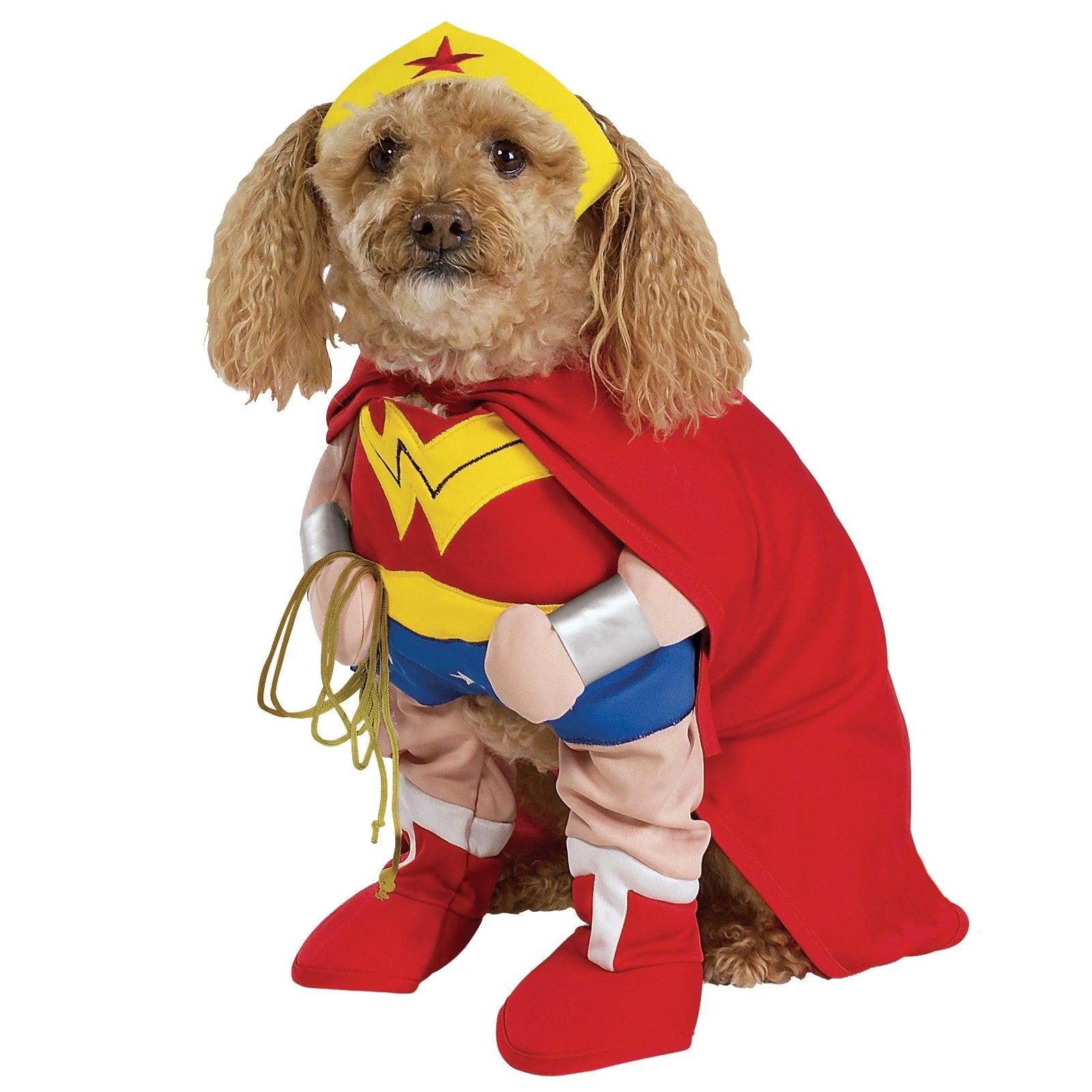 Wonder Woman Deluxe Dog Costume Includes Jumpsuit Belt Arms