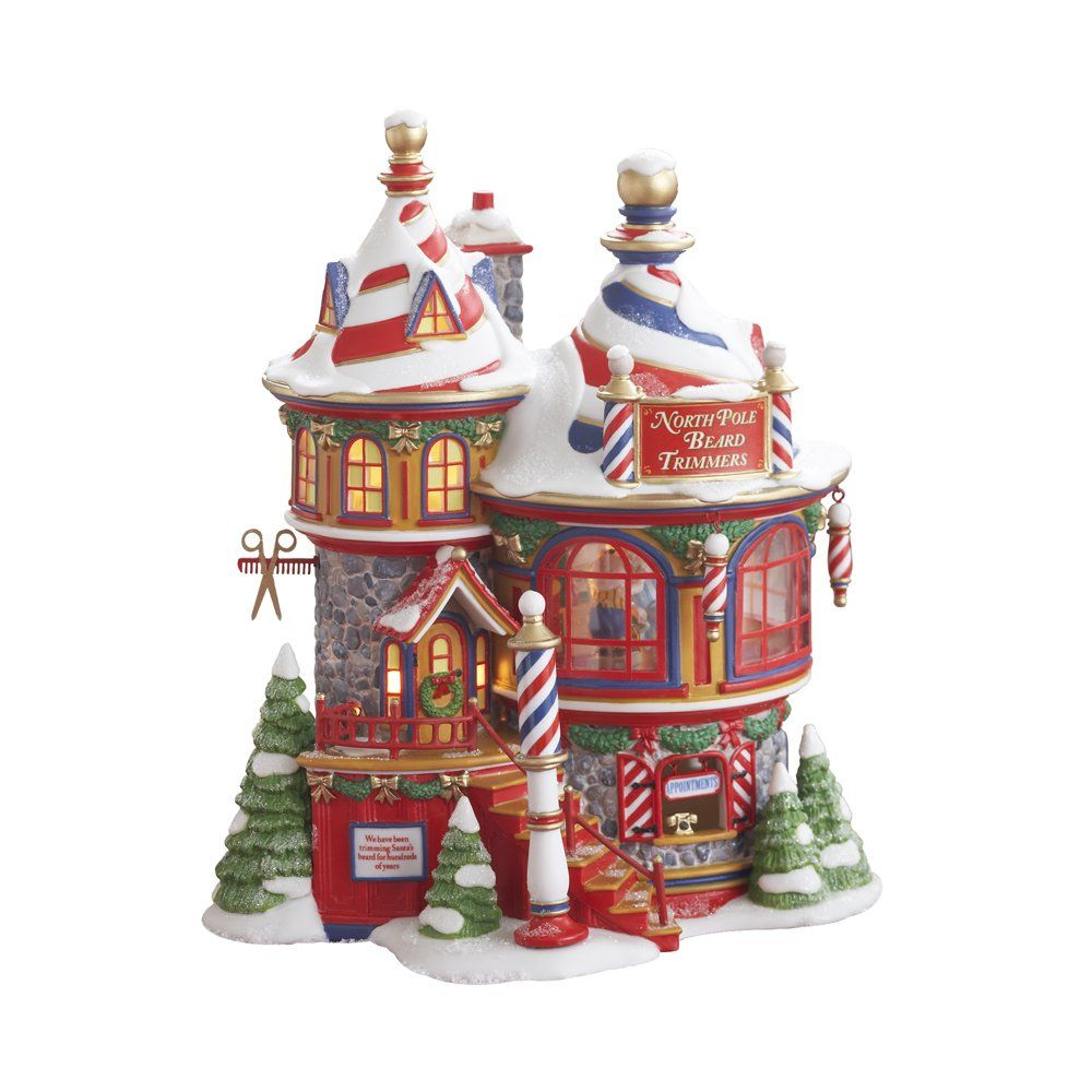 Department 56 North Pole Beard Trimmers Holiday Figurines My Vilage Pinterest And Christmas