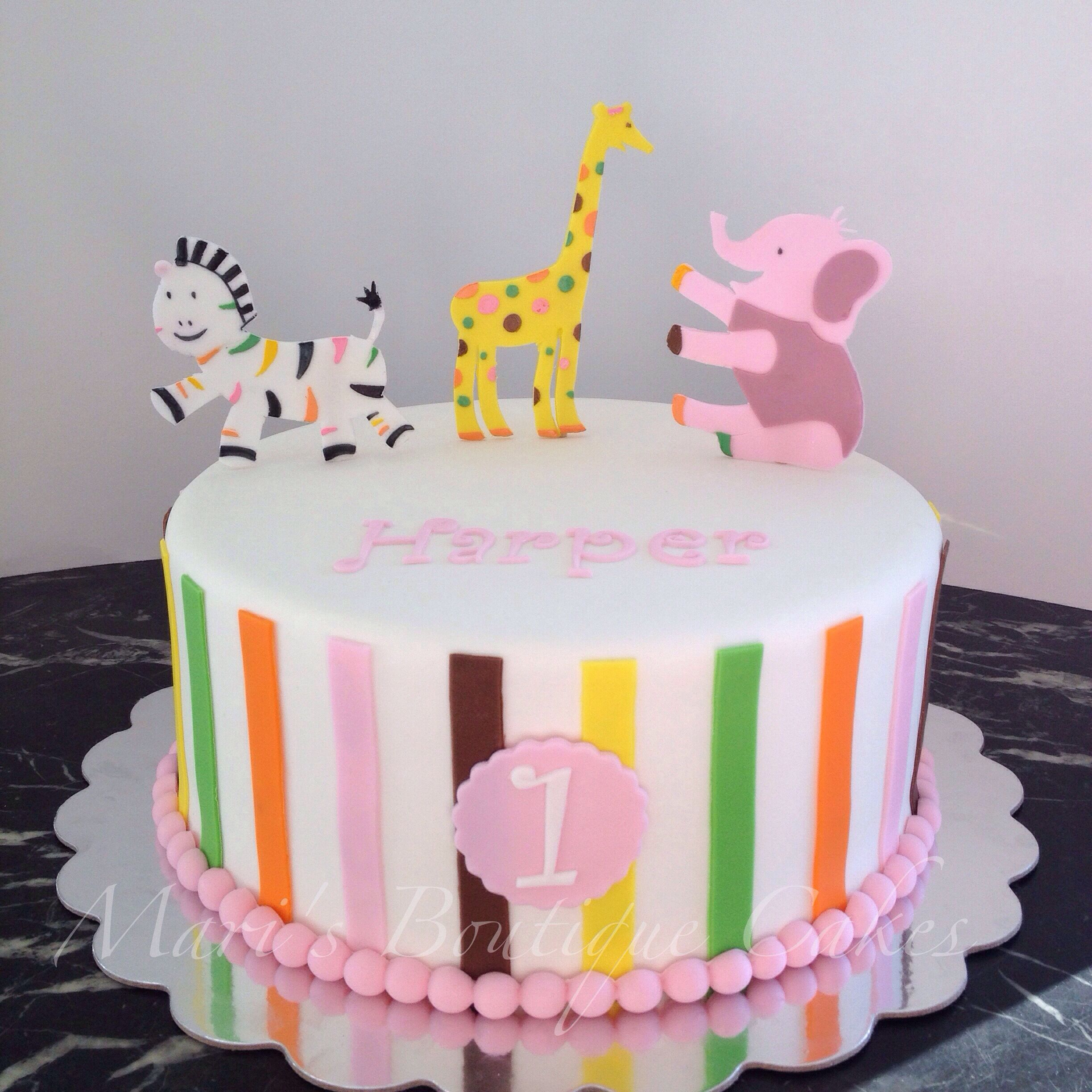 Sweet At One 1st Birthday Cake By Maris Boutique Cakes Maris
